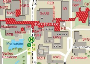 Lageplan Campus - Uni Bremen